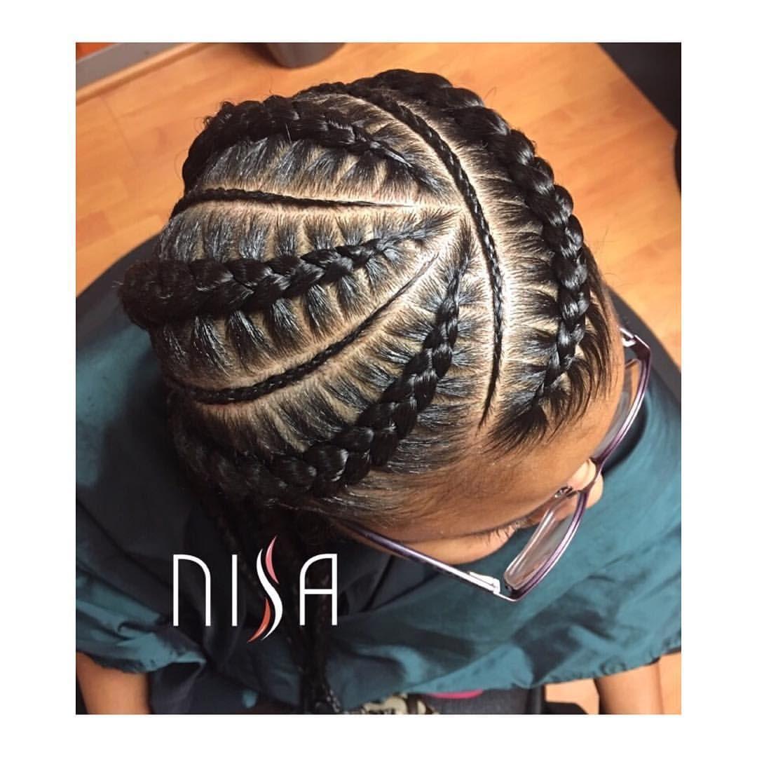 553 Likes 7 Comments Al Nisa Nisaraye On Instagram 4 Feed In Braids Styledbynisa Dm Feed In Braids Hairstyles Feed In Braid Cornrow Hairstyles