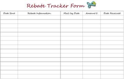 graphic about Printable Rebate identify Printable Rebate Tracker Kind Website Printables, Coupon