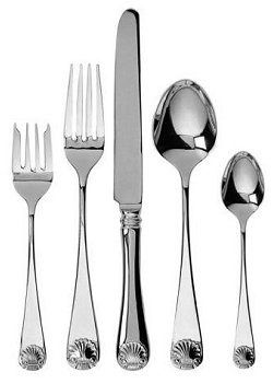 Continental Shell Stainless Flatware