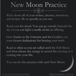 THEGODDESSCIRCLE.NET giving us all the new moon ritual feels