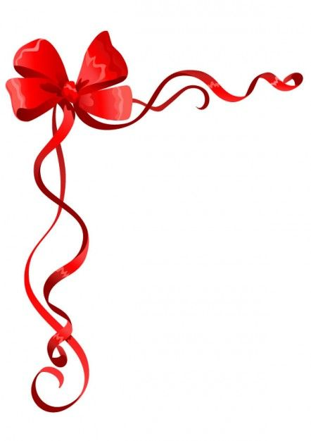 red bow and ribbon clipart