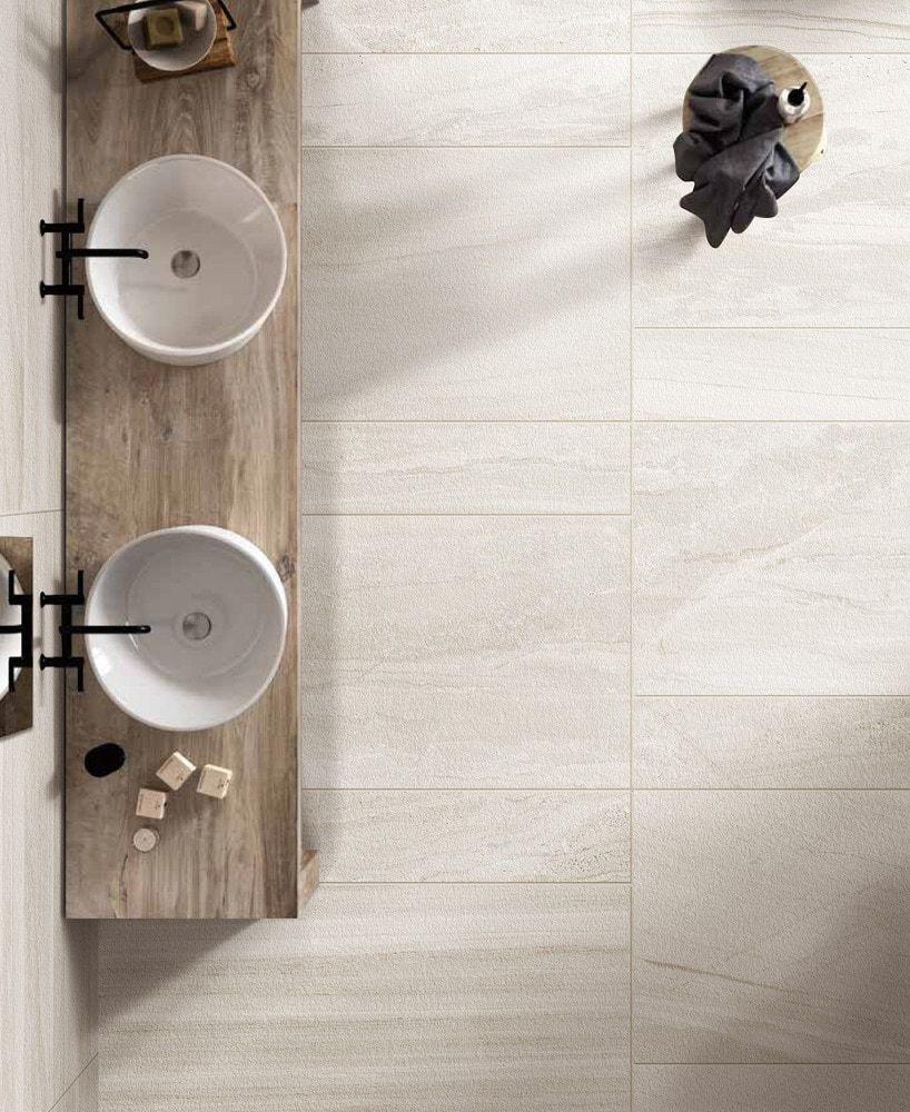 Salerno Porcelain Tile Cast Sandstone Series Bathroom Tile