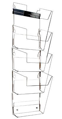 4-Tier Wall Magazine Rack for 8-1/2