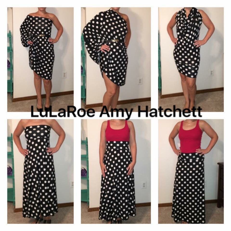 6 ways to wear the LulaRoe maxi skirt #outfits LulaRoe Amy