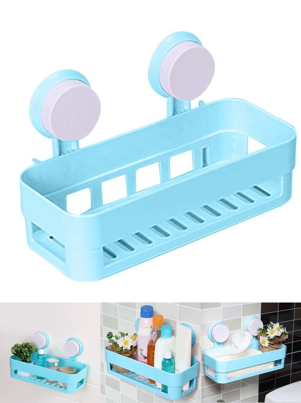 Visit to Buy] CNIM Hot 8pcs Kitchen Bathroom Shelf Plastic Shower ...