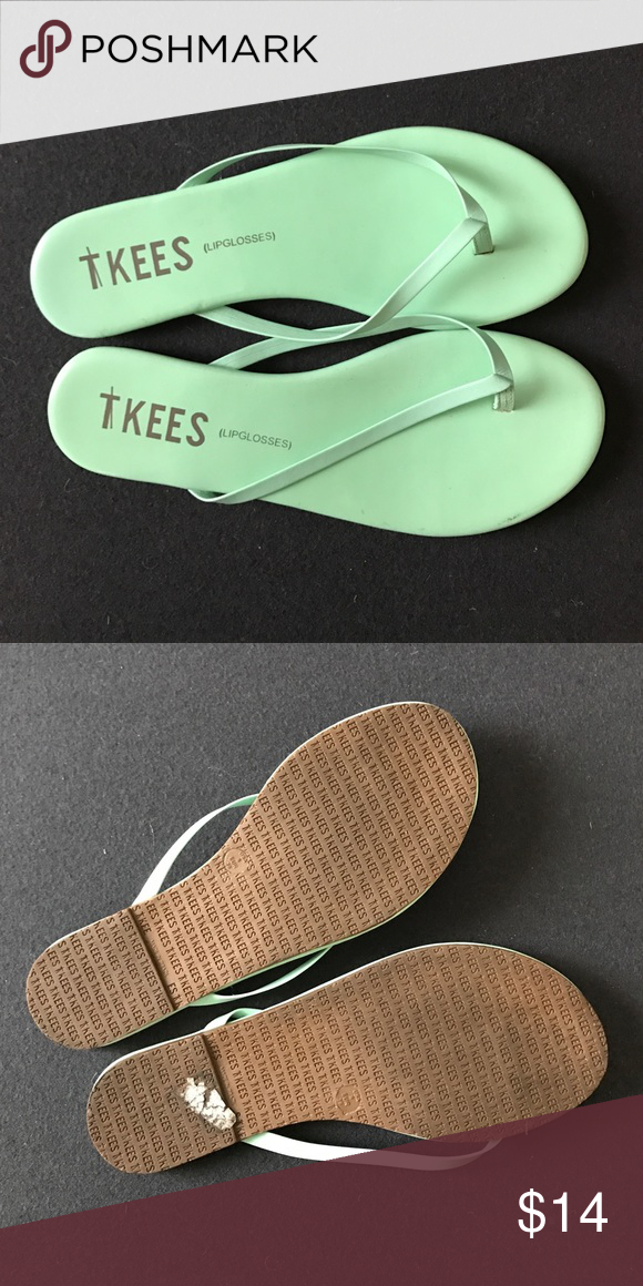 d491631f0371 Mint Tkees flip flops Mint green tkees lipglosses flip flops. Worn once.  tkees Shoes Sandals