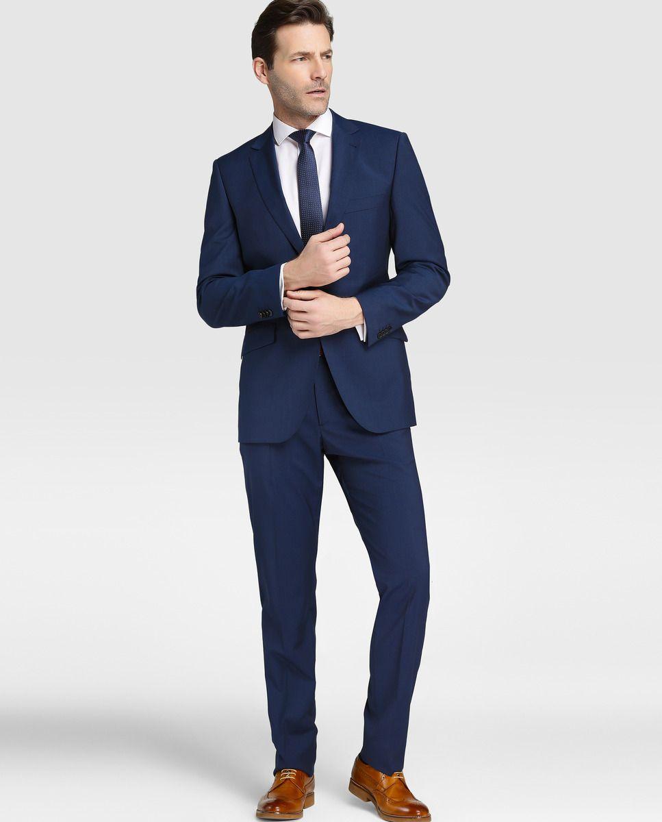 Traje de hombre Dustin regular con micro raya azul · Dustin · Moda · El  Corte Inglés 27130862ee6
