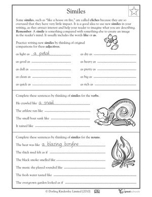 Worksheet Simile Worksheets 1000 images about worksheets on pinterest activities language and student
