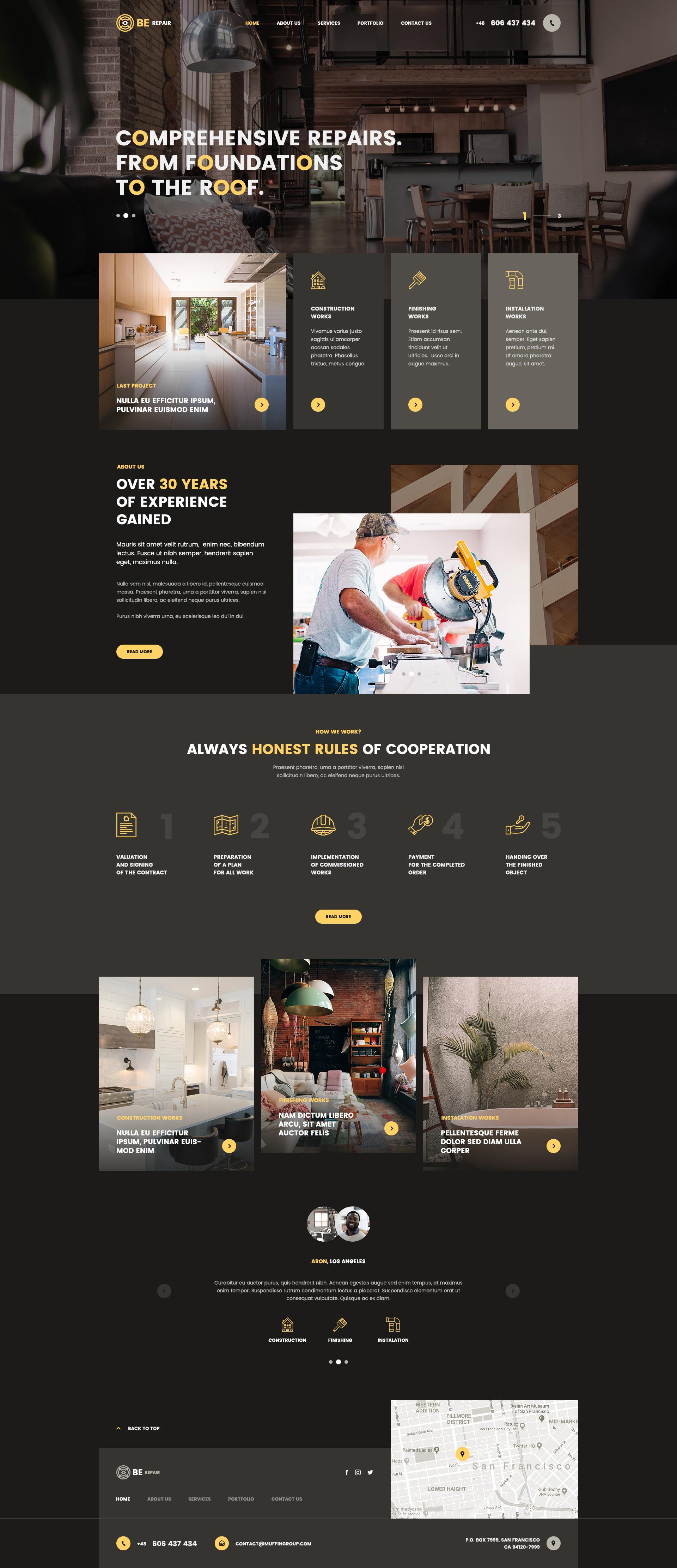 Berepair Minimalist Web Design Web Design Tips Web Template Design