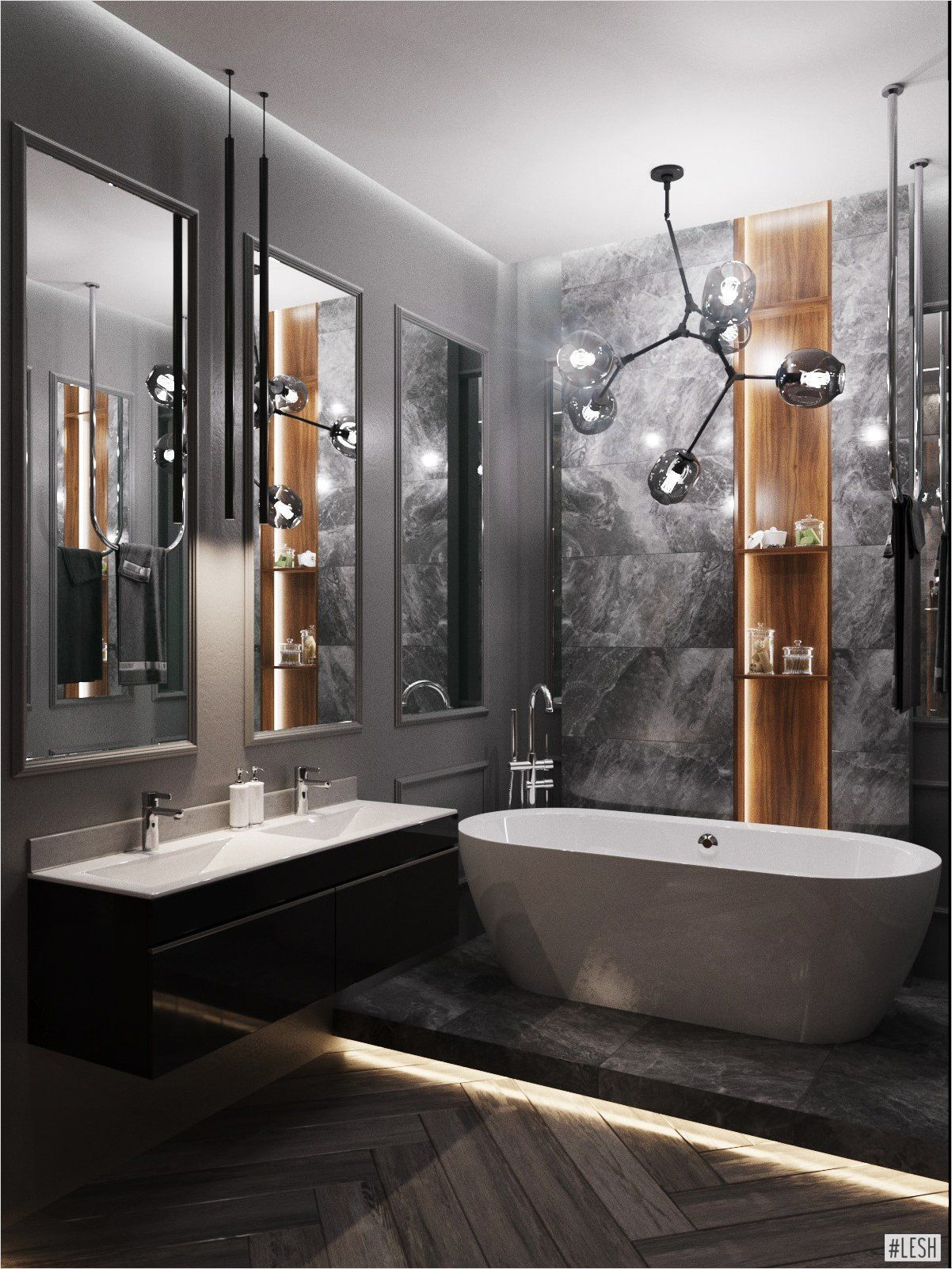 Black Bathroom Vanguard Modern Style Classic Style Modern Classic