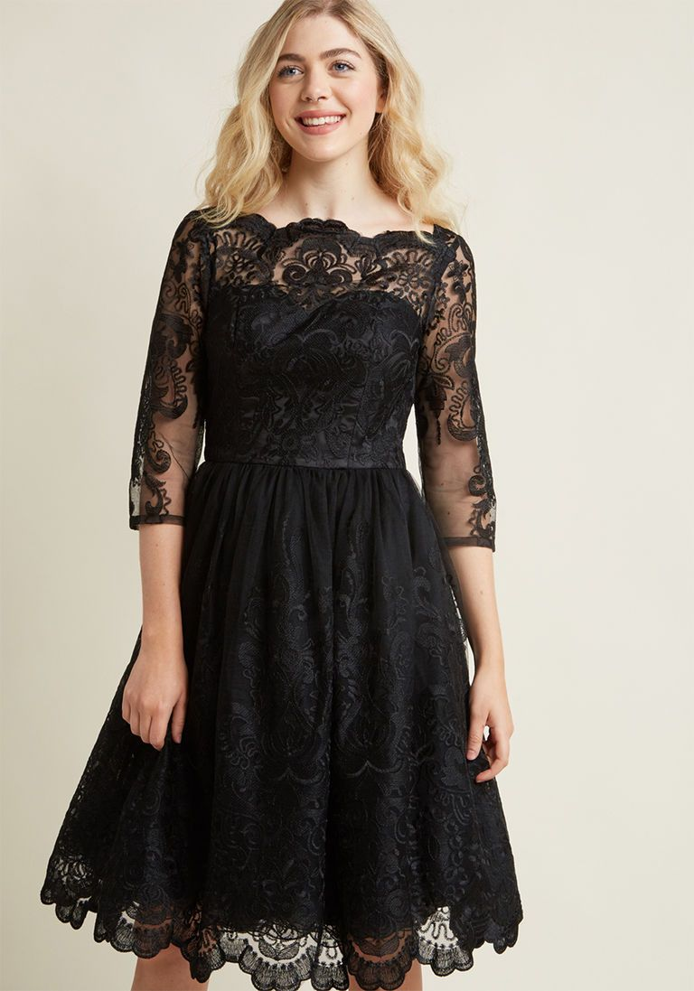 Vintage Inspired Cocktail Dresses Party Dresses Lace Dress In Black Lace Dress Vintage Inspired Cocktail Dress Black Cocktail Dress [ 1097 x 768 Pixel ]