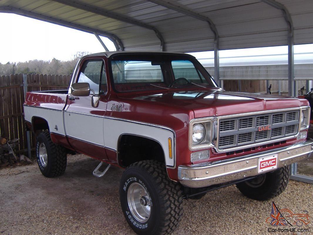 1978 Gmc Sierra Grande K15 4x4 Short Bed Pickup Same As K10 K 10 Chevy Swb Chevy Trucks Chevy Pickup Trucks Chevrolet Trucks