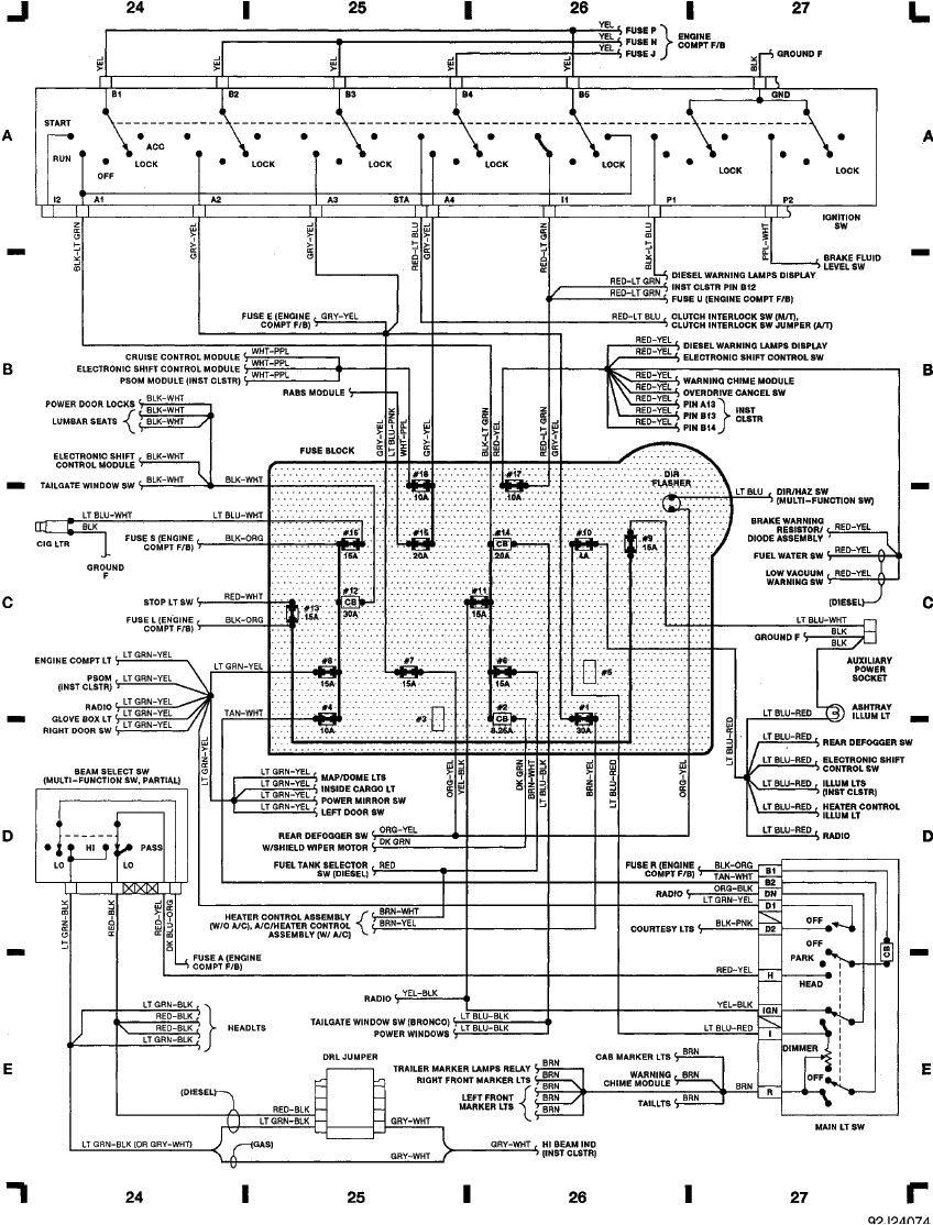 1991 E350 Wiring Diagrams Head Lights Google Search Ford F250 Diesel Ford F150 Diagram