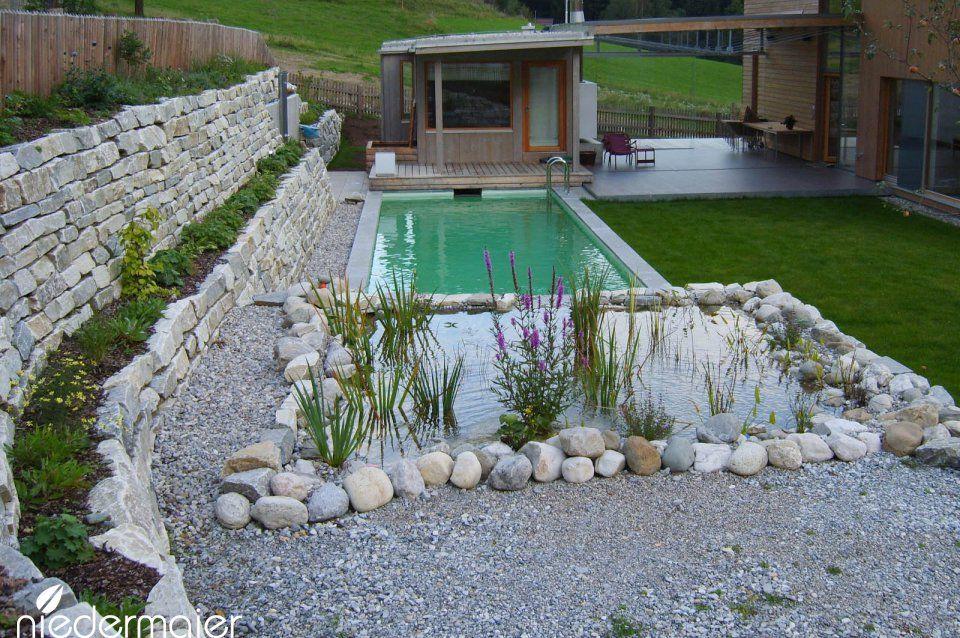 Ferienhaus Garten Gartendesigns Niedermaier Garten Freiraume Gmbh Purfing Vaterstetten Bei Munche Wasserspiel Garten Naturschwimmteich Naturschwimmbader