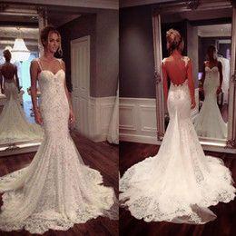 Real Buyer Show Lace Mermaid Wedding Dresses Custom Make Sweetheart ...