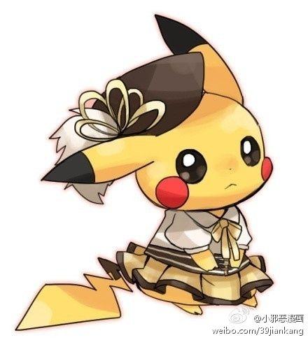 Pikachu d 39 poque pokemon pinterest pok mon - Dessin pikachu mignon ...