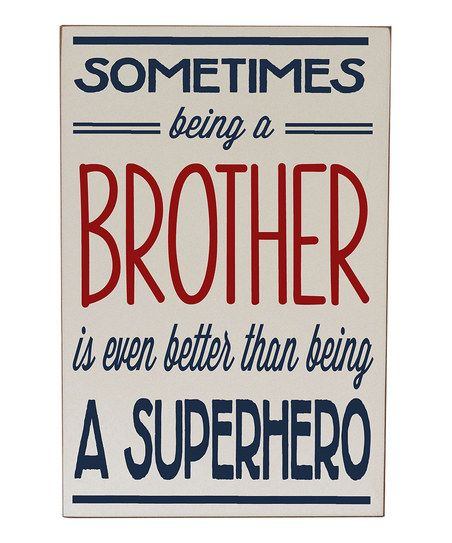 Cream Navy Brother Superhero Wall Art Inspiration And Humor ...