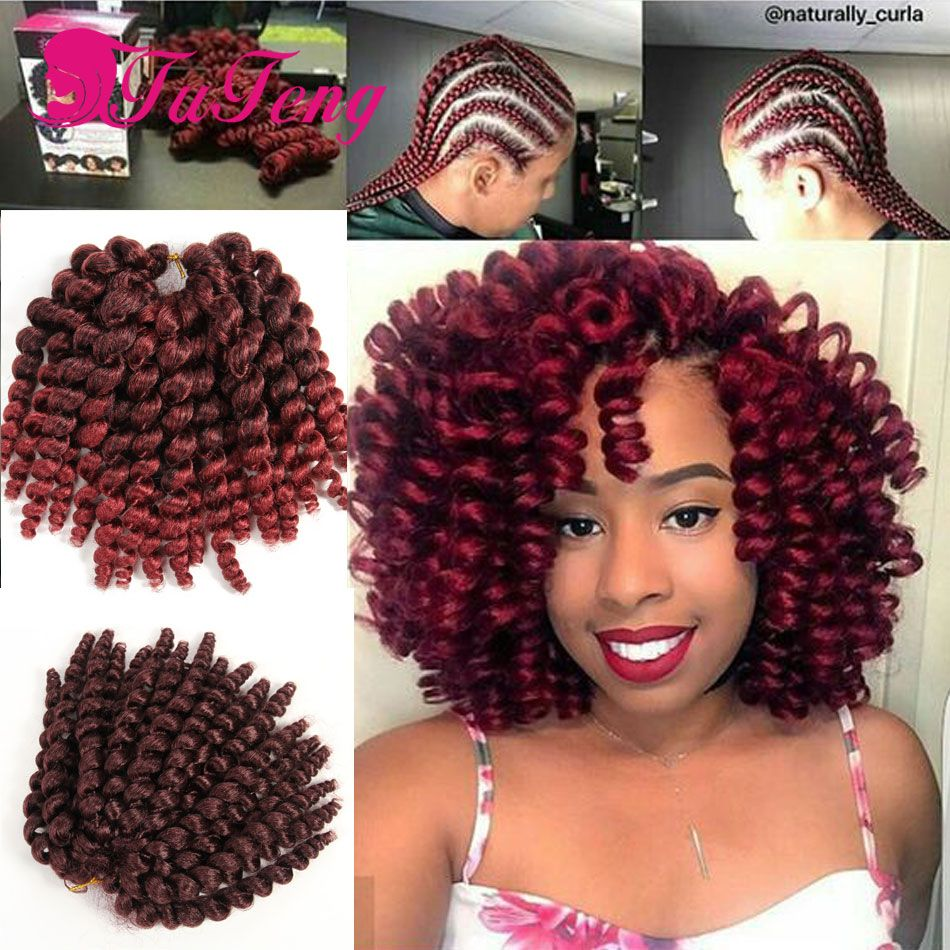 10 inch Wand Curl Crochet hair extensions 22Roots/pack ... - photo #18
