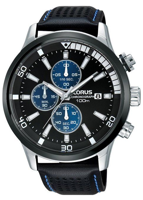 3dce7018b13e Relojes Lorus caballeros-reloj deporte cronógrafo de cuarzo cuero RM369CX9