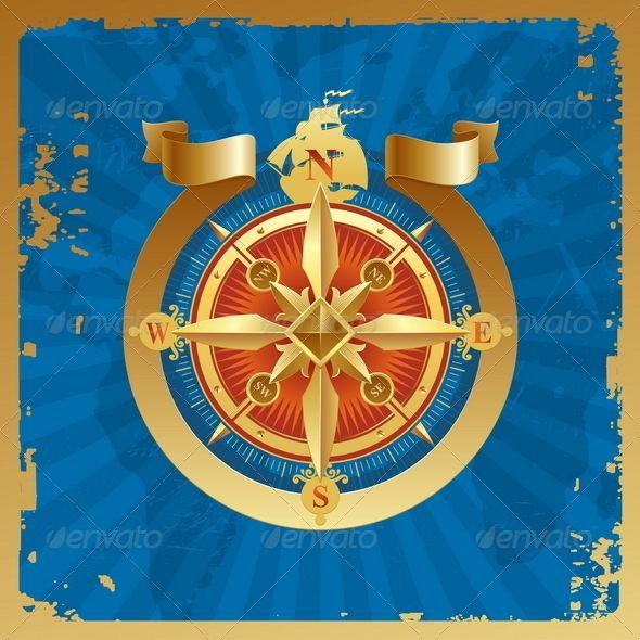 Vintage golden compass rose pinterest compass rose compass and vintage golden compass rose graphicriver golden compass rose on a grunge world map background gumiabroncs Choice Image