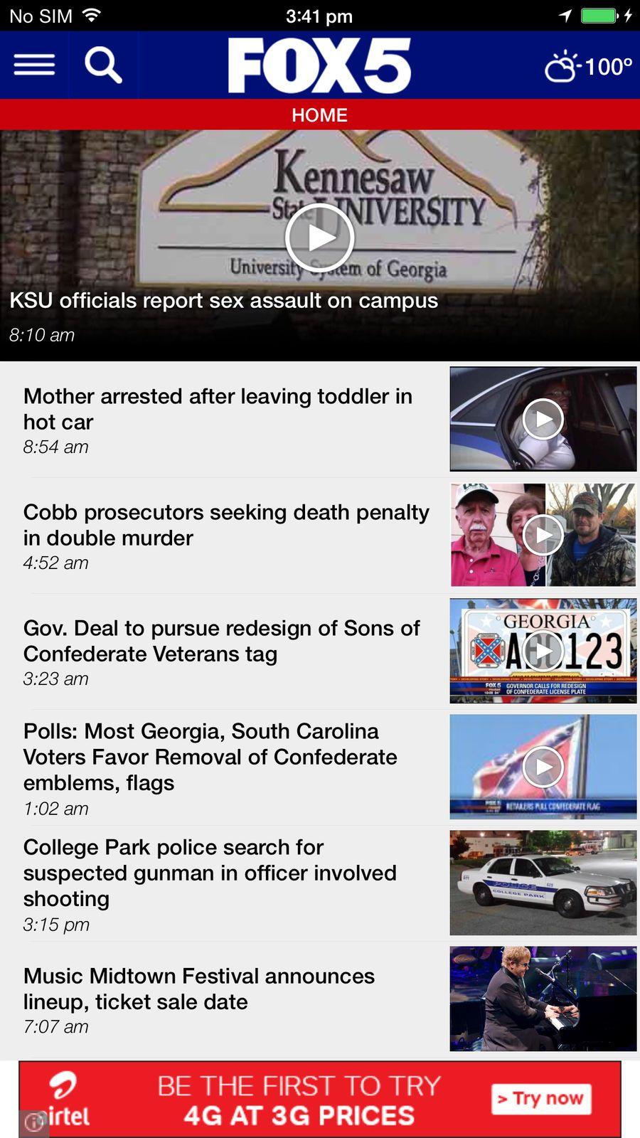 FOX 5 Atlanta #Weather#News#apps#ios | Apple Game Plays | App, News