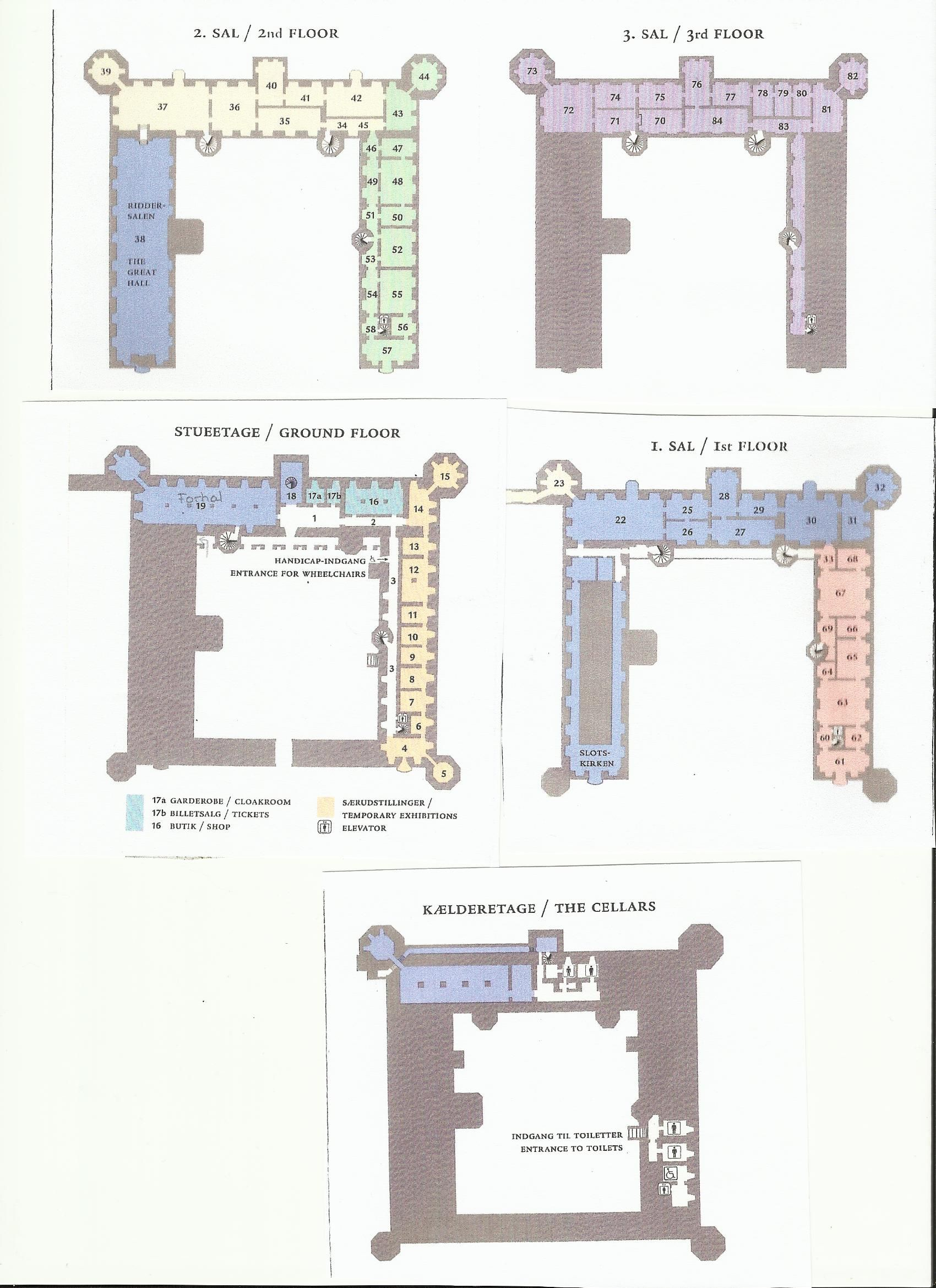 Frederiksborg Castle Floor Plan Castles And Palaces