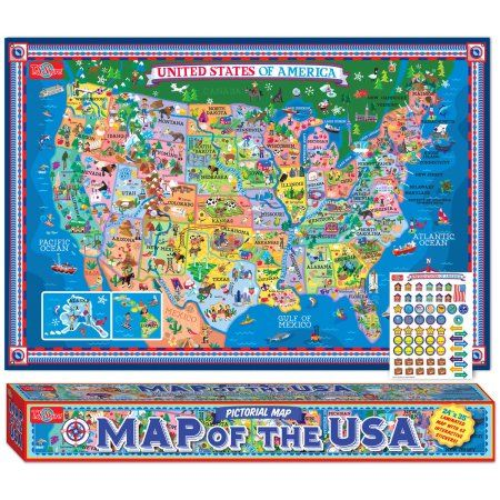 Ts shure pictorial map of the usa laminated poster with ts shure pictorial map of the usa laminated poster with stickers gumiabroncs Images