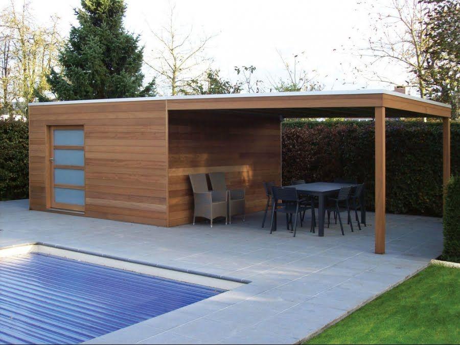 Modernes Gartenhaus   Maison en bois   Abri de jardin, Maisons avec ...
