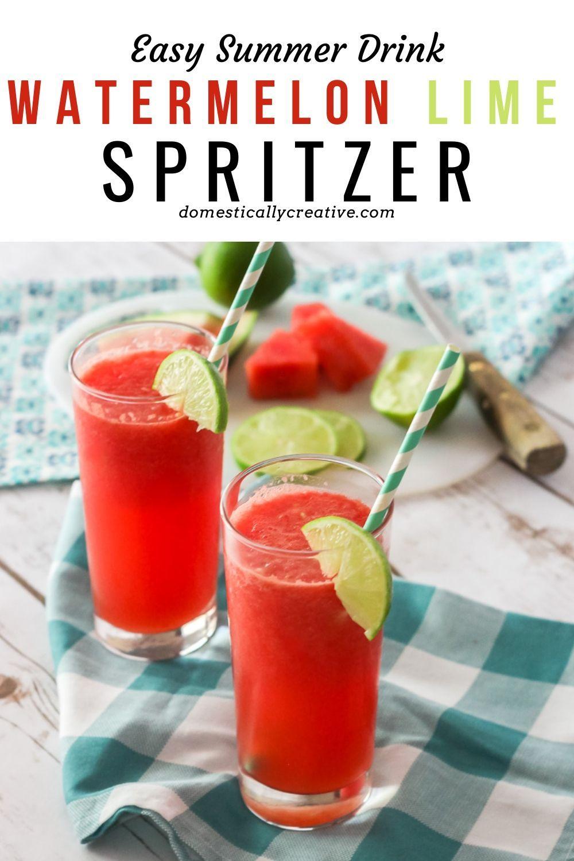 Watermelon Lime Spritzer Summer Drink Recipe Recipe In 2020 Mixed Drinks Recipes Summer Drink Recipes Summer Drinks