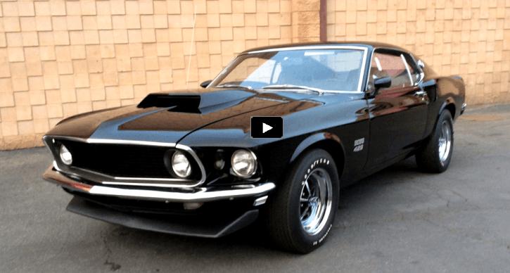 Superb Black On Black 1969 Mustang Boss 429 Kk Mustang Boss
