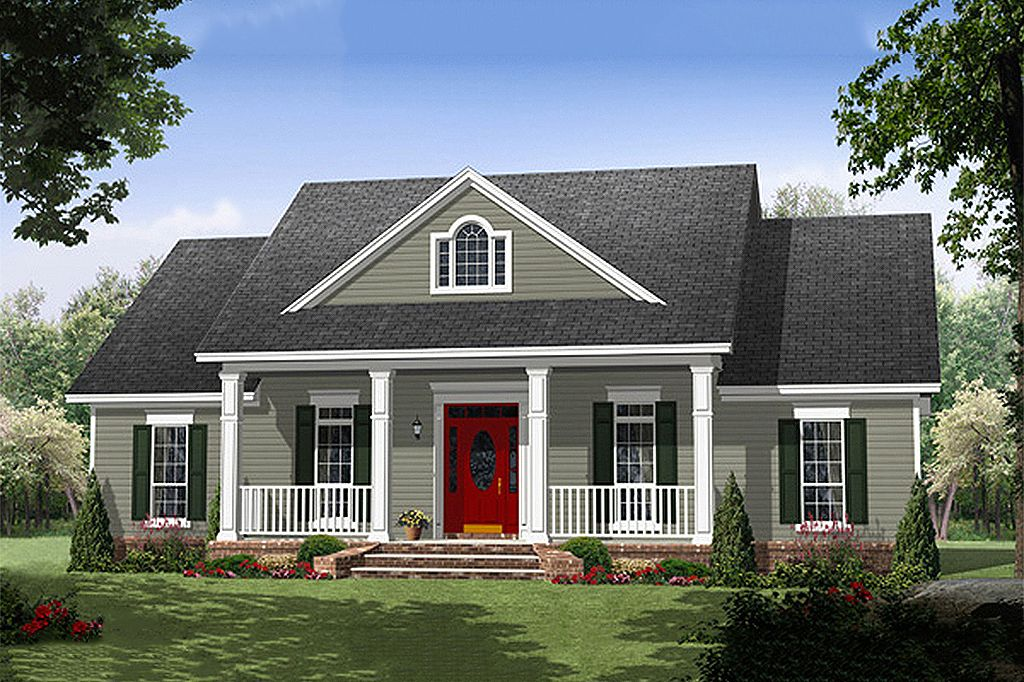 Southern Style House Plan 3 Beds 2 5 Baths 1870 Sq Ft Plan 21 354 Country Style House Plans Country House Plans House Plan Gallery