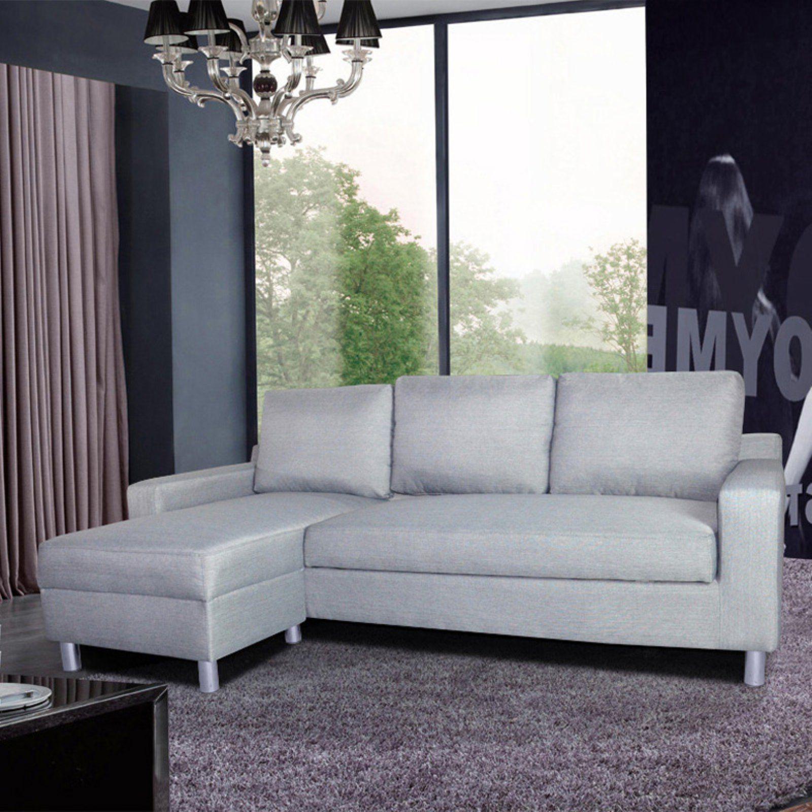 Us Pride Furniture Kachy Convertible Sectional Sofa Gray