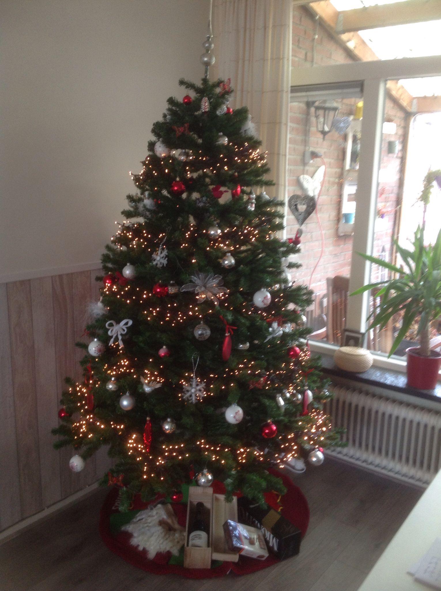 Rood Zilver En Wit Kerst