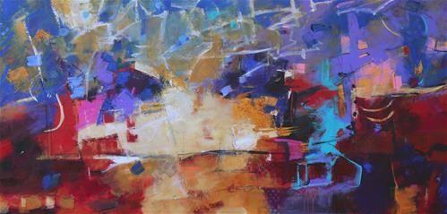 """Daily+Paintworks+-+""""Sunup""""+-+Original+Fine+Art+for+Sale+-+©+Elizabeth+Chapman"""