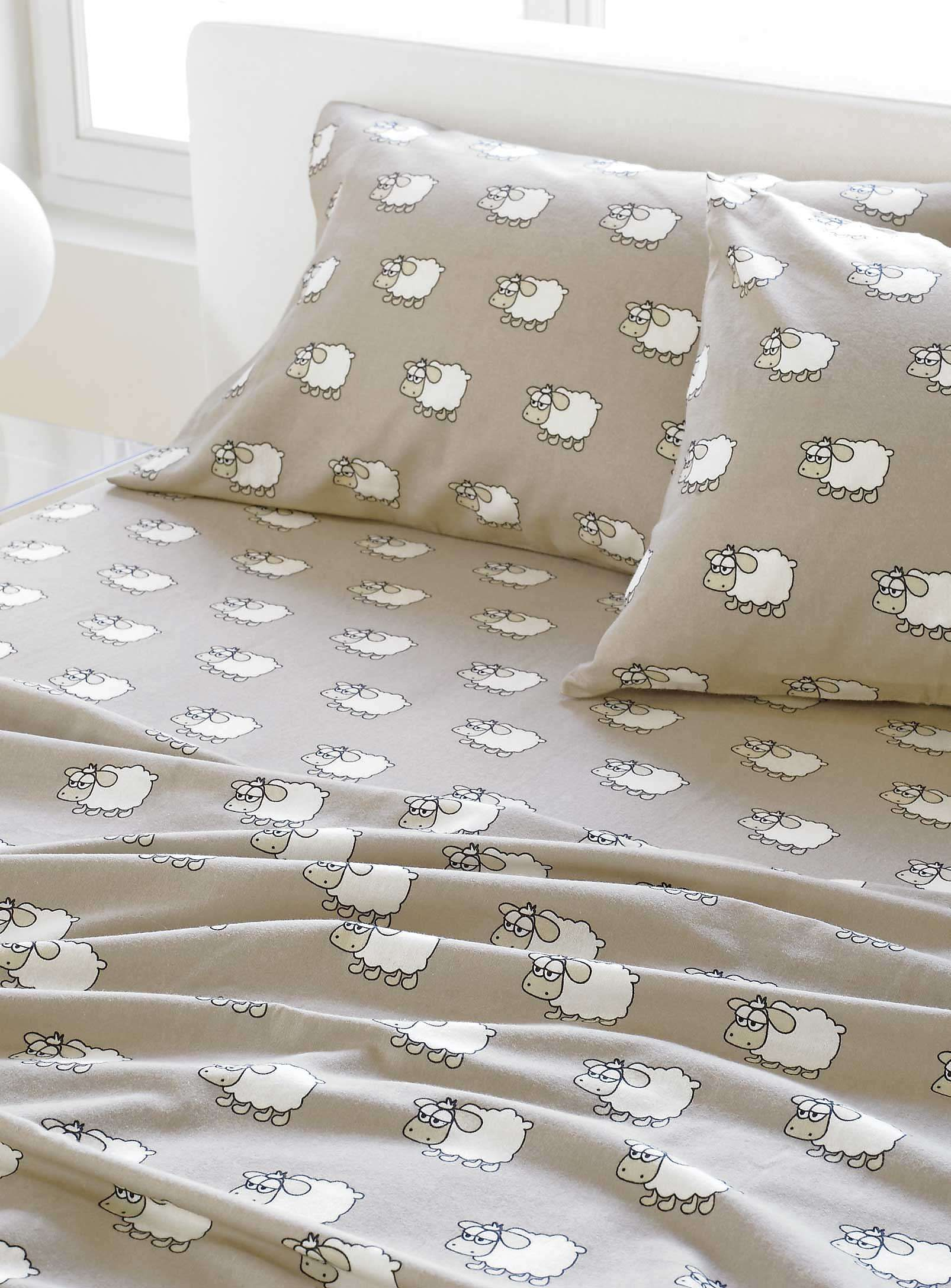 Counting Sheep Cotton Flannel Sheet Sheets Amp Pillowcases Simons Draps Chambre Enfant