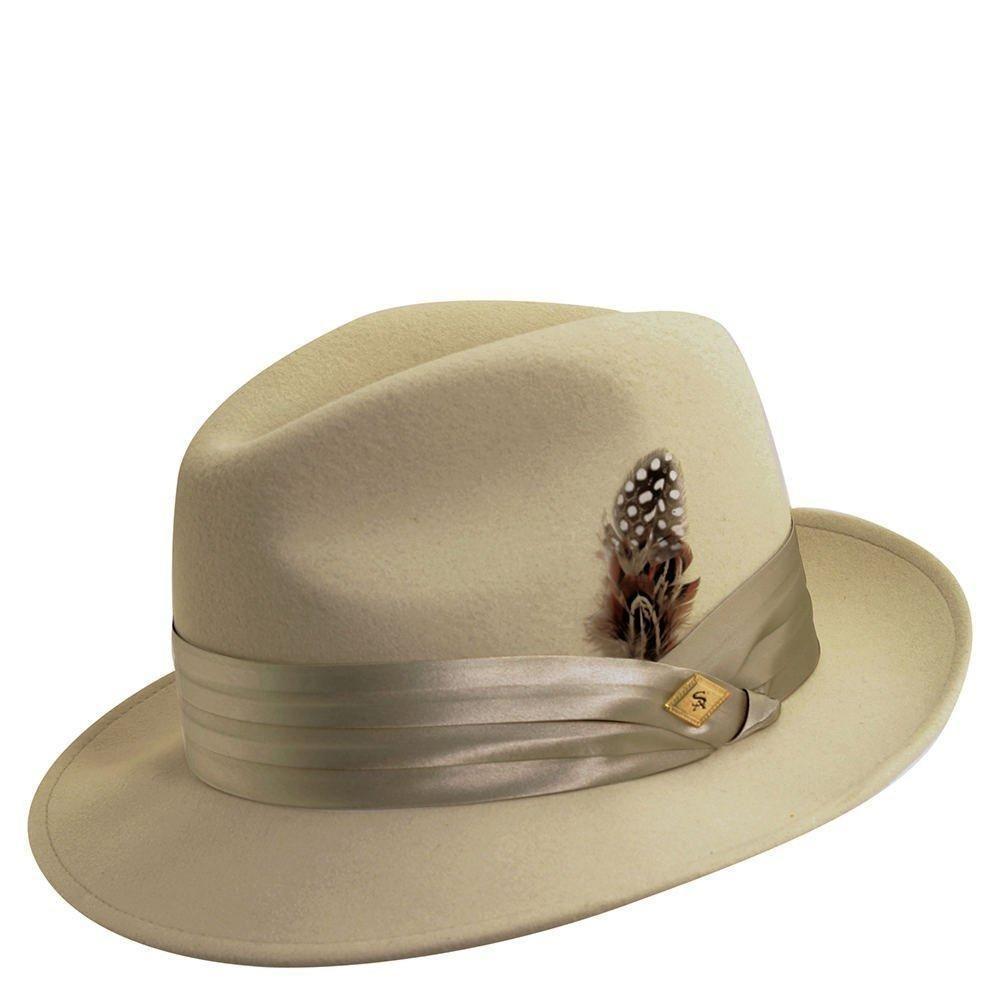 Stacy adams men s crushable wool felt snap brim fedora hat  95b018557008