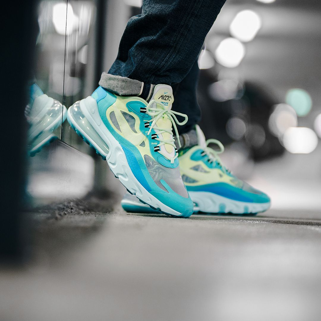 The Nike Air Max 270 React Hyper Jade dropped today. Who