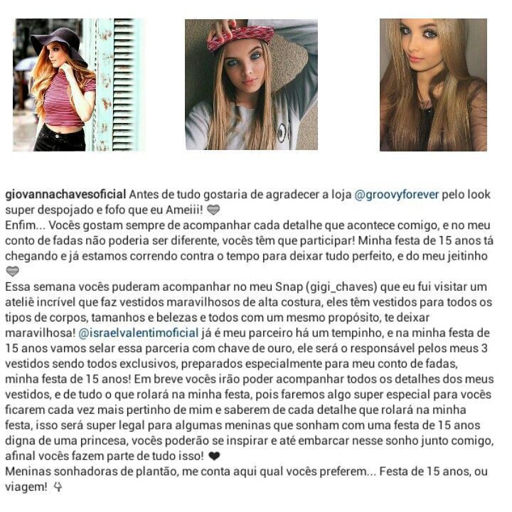 Giovanna Chaves❤  #15DaGiih❤