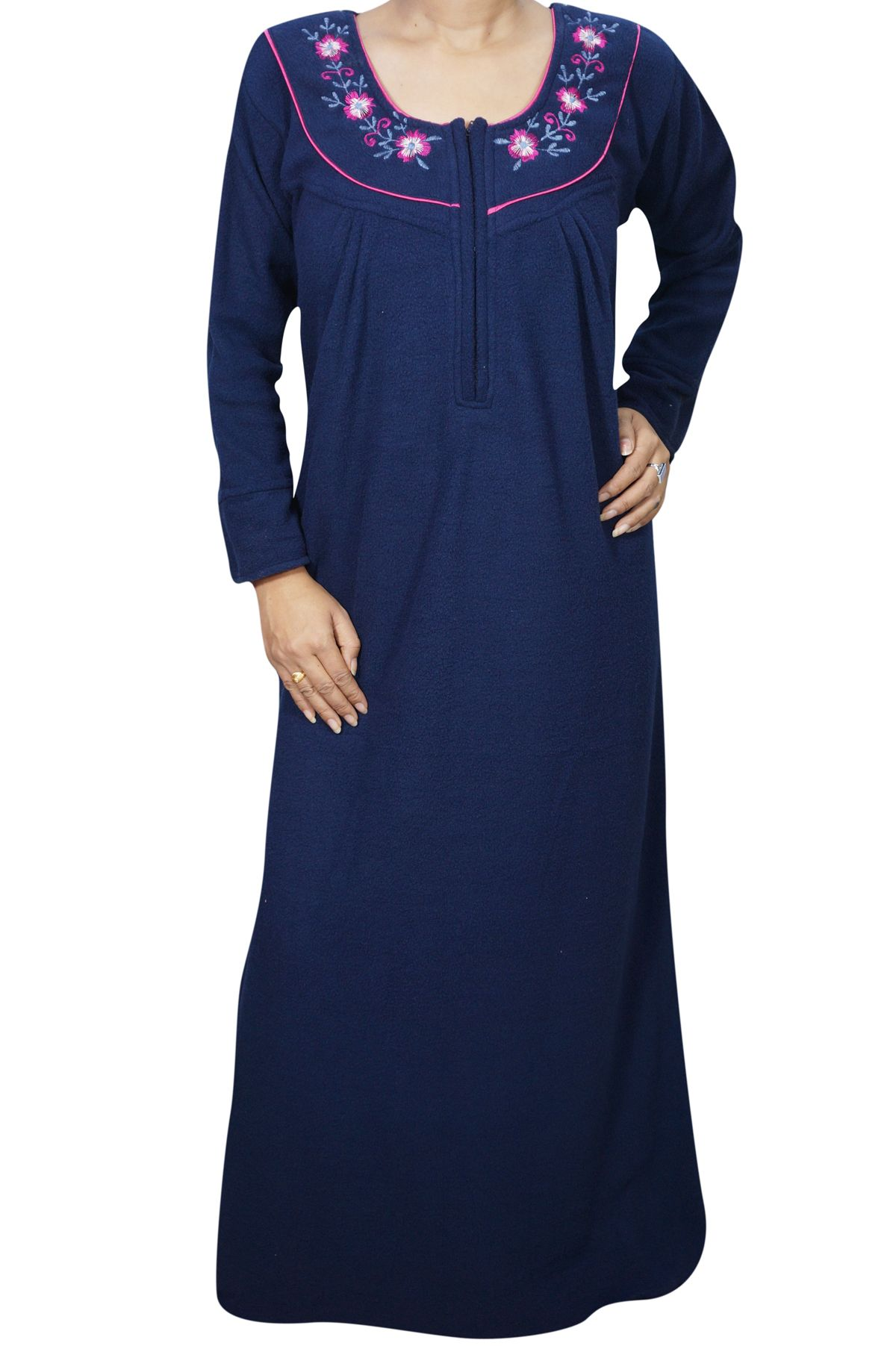 Enjoy your sleep time with this Solid winter Full Sleeve night wear ...