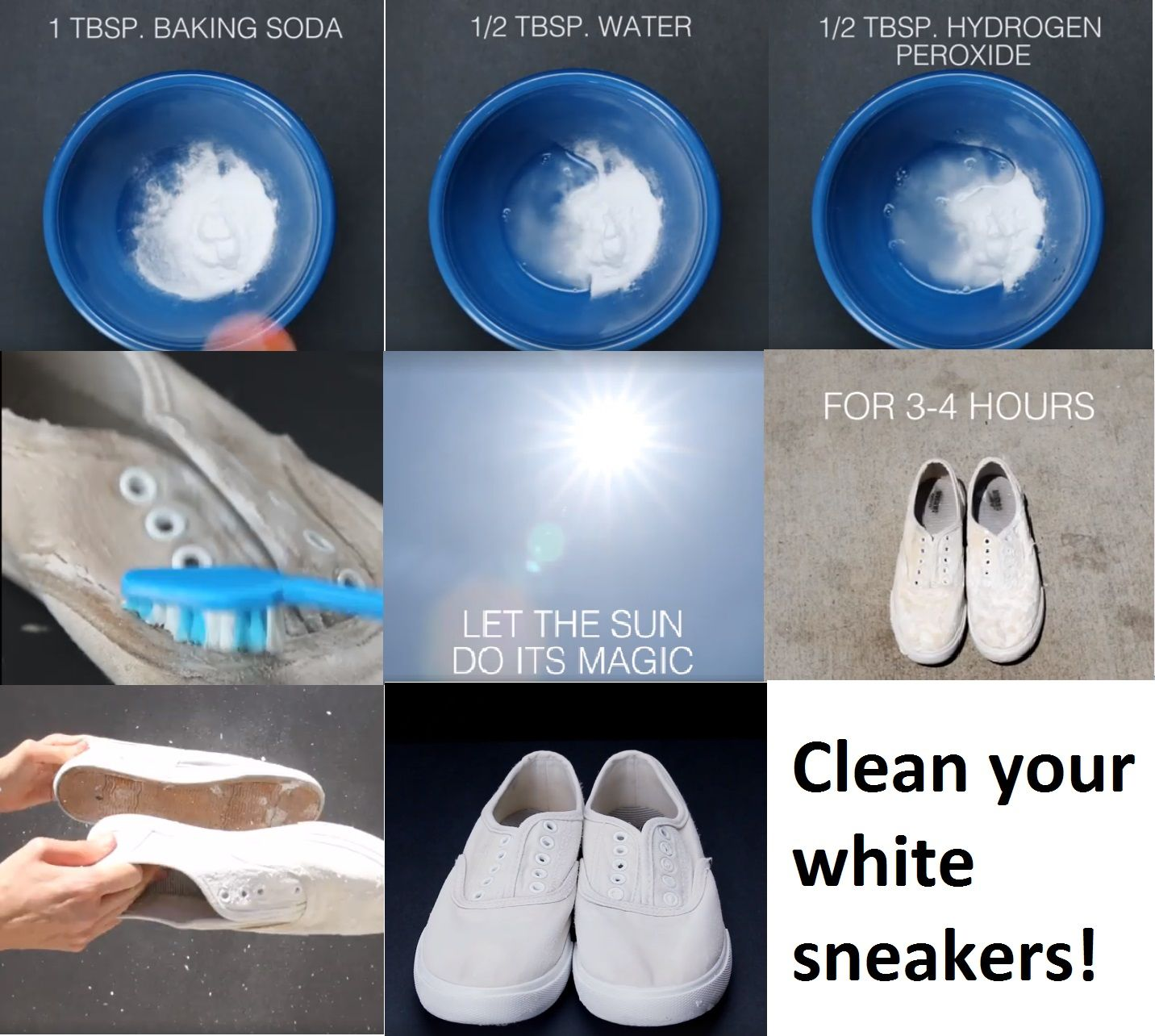 0b0b2f5690b DIY Clean White Sneakers etc.~Stain Remover Cleaner Whitener Cleaning White  Vans