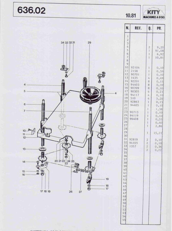 Audacieux Vues éclatées Kity 612 - 617 - 627 - 636 - 618   houtbewerking IQ-34