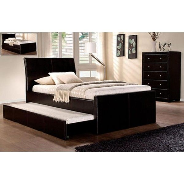 King Single Size With Trundle Bed Leather Bed Frame Leather Bed