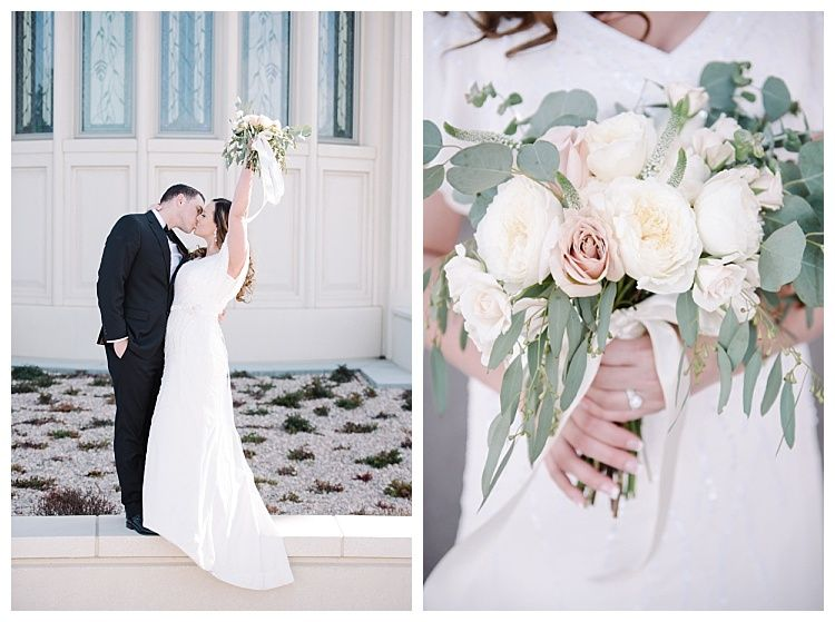 LDS wedding photos at the Payson Temple by Utah photographer Brooke ...