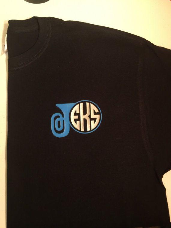 04efb4dd3652e Marching band monogram shirt, band tee, drum monogram, saxophone ...