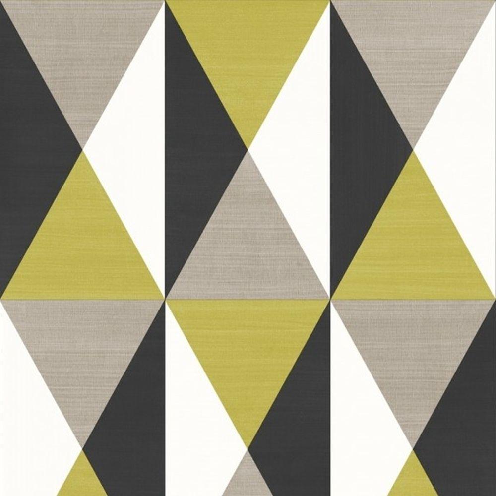 Muriva Rhombus Triangle Square Geometric Pattern Textured