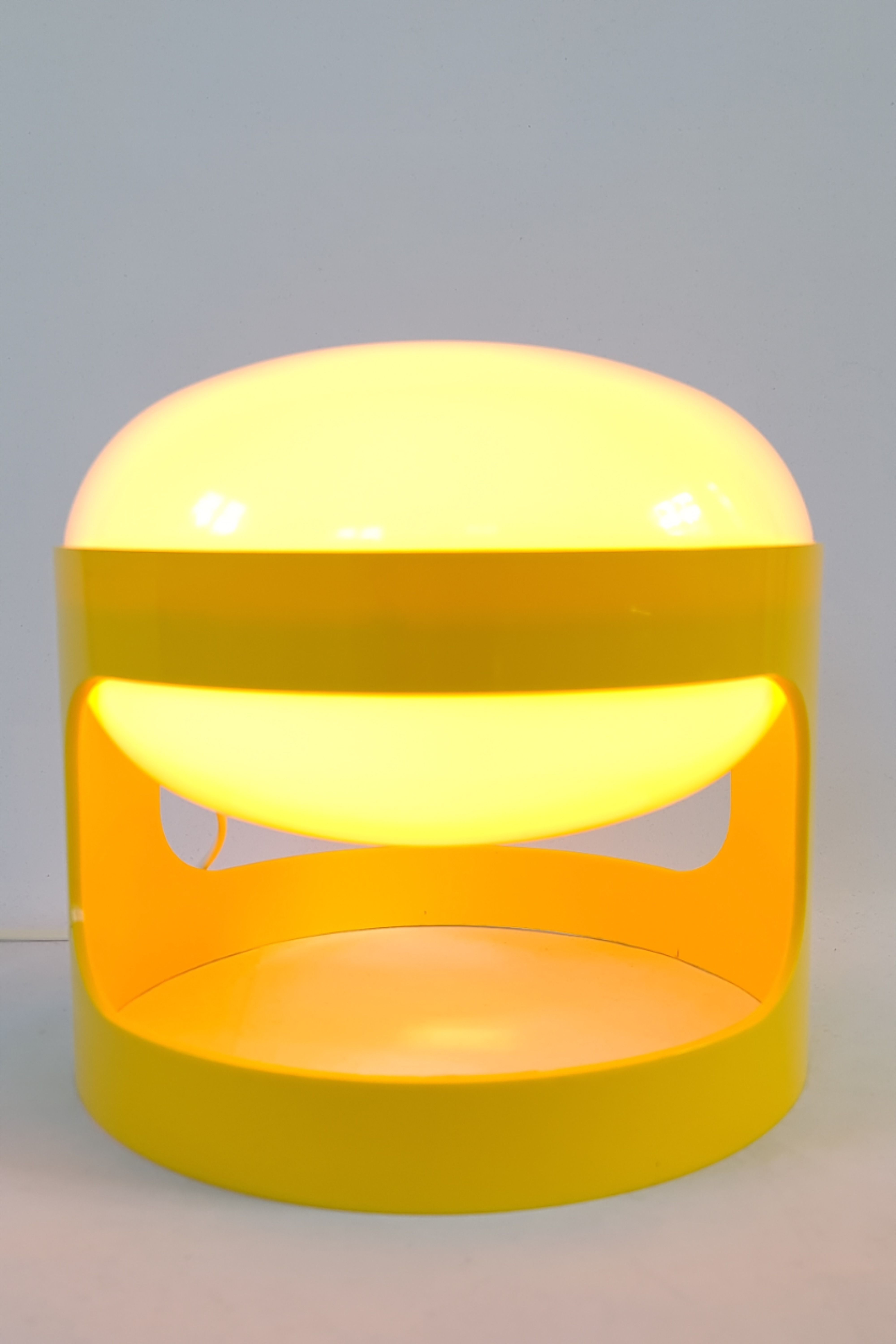 Space Age Table Lamp Kd 27 Designed By Joe Colombo For Kartell Italy Made By Husqvarna Sweden 1960s Midcentury In 2020 Kartell Design Yellow Table Lamp