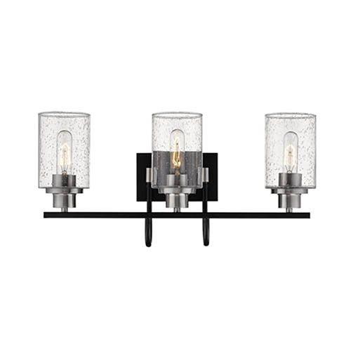 Photo of Millennium Lighting Clifton Matte Black And Brushed Nickel Three Light Vanity 3513 Mb Bn | Bellacor