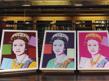 Queen Elizabeth II by Andy Warhol.