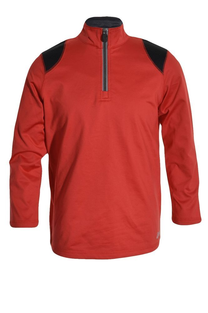 Details about Asics Boys 1/4 Zip Pullover Athletic Jacket Youth 8 ...