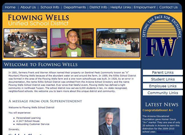 Flowing wells website